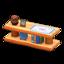 Log Decorative Shelves (Orange Wood - Quilted)
