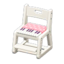 Writing Chair (White - Pink)