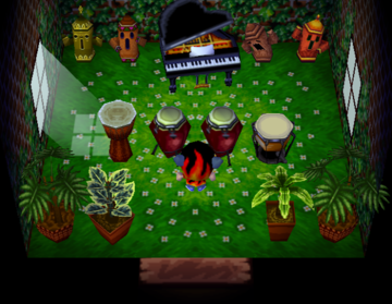 Interior of Axel's house in Animal Crossing