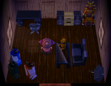 Interior of Groucho's house in Animal Crossing