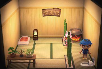 Interior of Kabuki's house in Animal Crossing: New Horizons