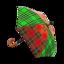 Tartan-Check Umbrella