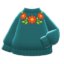 Flower Sweater (Green) NH Icon.png