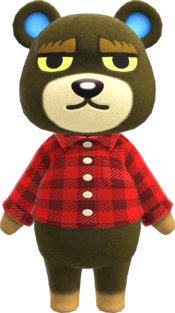 Grizzly, an Animal Crossing villager.