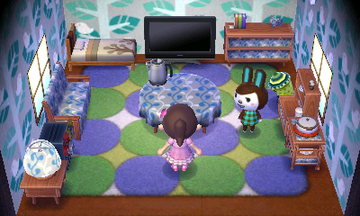 Interior of Carmen's house in Animal Crossing: New Leaf