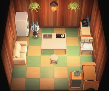 Interior of Lolly's house in Animal Crossing: New Horizons