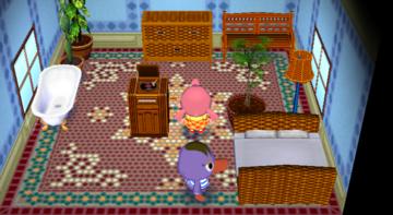Interior of Mallary's house in Animal Crossing: City Folk