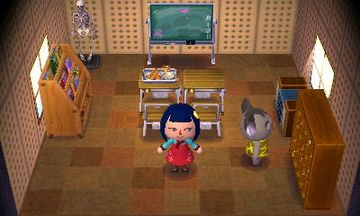 Interior of Ozzie's house in Animal Crossing: New Leaf