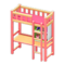 Loft Bed with Desk (Pink - Pink) NH Icon.png