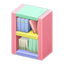 Wooden-Block Bookshelf (Pastel)