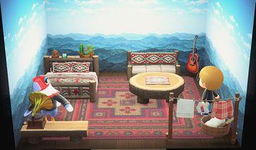 Interior of Amelia's house in Animal Crossing: New Horizons