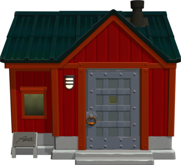 Exterior of Biff's house in Animal Crossing: New Horizons