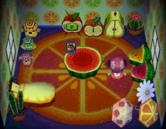 Bubbles's house interior