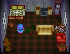 Purrl's house interior