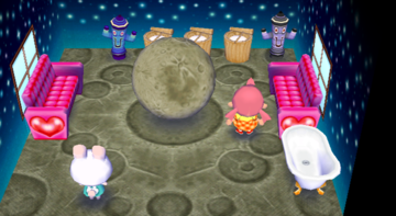 Interior of Ruby's house in Animal Crossing: City Folk