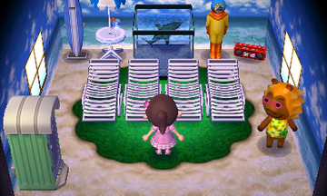 Interior of Bud's house in Animal Crossing: New Leaf