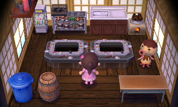 Interior of Zucker's house in Animal Crossing: New Leaf