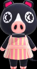 Artwork of Agnes the Pig