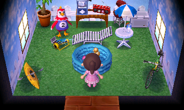 Interior of Benedict's house in Animal Crossing: New Leaf