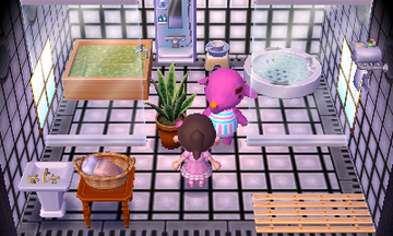 Interior of Paolo's house in Animal Crossing: New Leaf