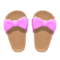 Ribbon Sandals (Pink) NH Icon.png