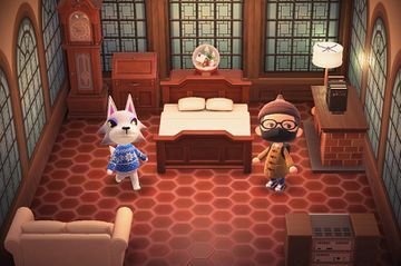 Interior of Fang's house in Animal Crossing: New Horizons