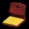 Floor Seat (Dark Wood - Mustard Yellow) NH Icon.png