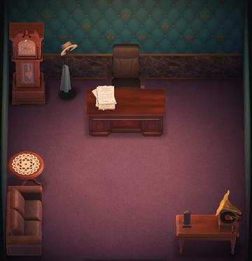 Interior of Beardo's house in Animal Crossing: New Horizons