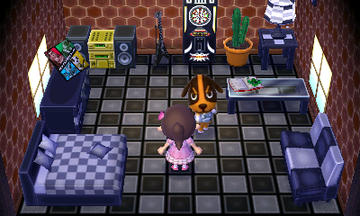 Interior of Butch's house in Animal Crossing: New Leaf