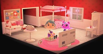 Interior of Peanut's house in Animal Crossing: New Horizons