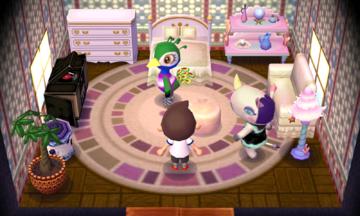 Interior of Rhonda's house in Animal Crossing: New Leaf