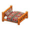 Log Bed (Orange Wood - Southwestern Flair) NH Icon.png