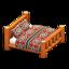 Log Bed (Orange Wood - Southwestern Flair)