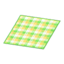 Yellow Checked Rug