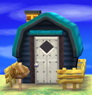 Exterior of Pierce's house in Animal Crossing: New Leaf