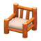 Log Chair (Orange Wood - None) NH Icon.png
