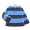 Thick-Stripes Shirt (Light Blue & Black) NH Icon.png