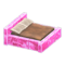 Frozen Bed (Ice Pink - Brown) NH Icon.png