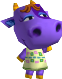 Petunia (cow), an Animal Crossing villager.