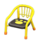 Baby Chair (Yellow - Paw Print) NH Icon.png