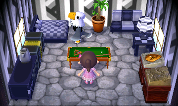 Interior of Apollo's house in Animal Crossing: New Leaf