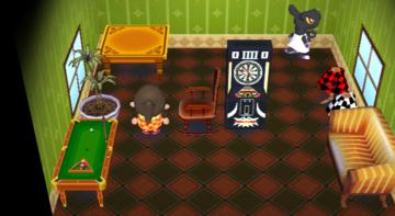 Interior of Mathilda's house in Animal Crossing: City Folk