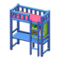 Loft Bed with Desk (Blue - Pink) NH Icon.png