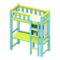 Loft Bed with Desk (Light Blue - White) NH Icon.png