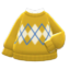 Argyle Sweater (Mustard) NH Icon.png