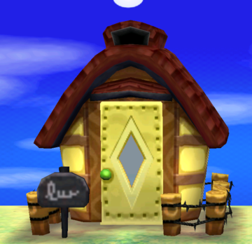 Exterior of Knox's house in Animal Crossing: New Leaf