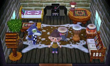 Interior of Lobo's house in Animal Crossing: New Leaf