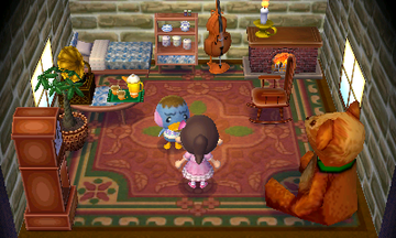 Interior of Pate's house in Animal Crossing: New Leaf