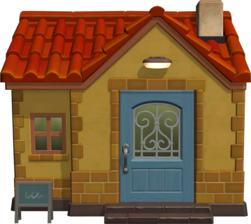 Exterior of Paula's house in Animal Crossing: New Horizons