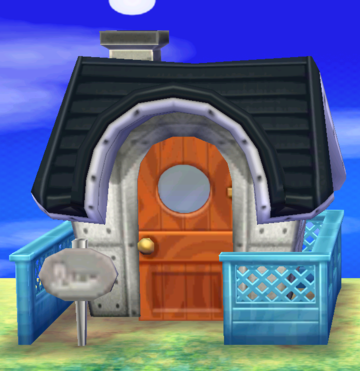 Exterior of Stu's house in Animal Crossing: New Leaf